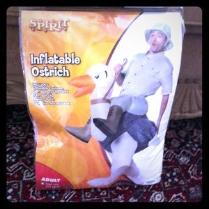 Costume inflatable ostrich adult one size.